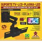 Suporte para tv articulável e reclinável 19 a 42' S1600 Sulforte