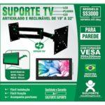 Suporte para tv articulável e reclinável 19 a 32' SS3000 Sulforte