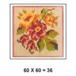 Tela para bordar 0,36m² flores