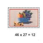 Tela para bordar 0,12m² Frutas