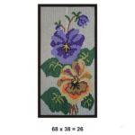 Tela para bordar 0,26m² flores